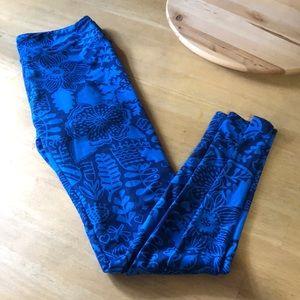 Gorgeous deep blue lularoe garden os leggings